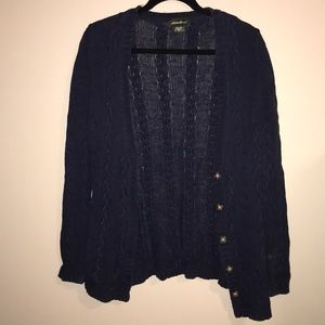 Eddie Bauer Cable Knitted Cardigan